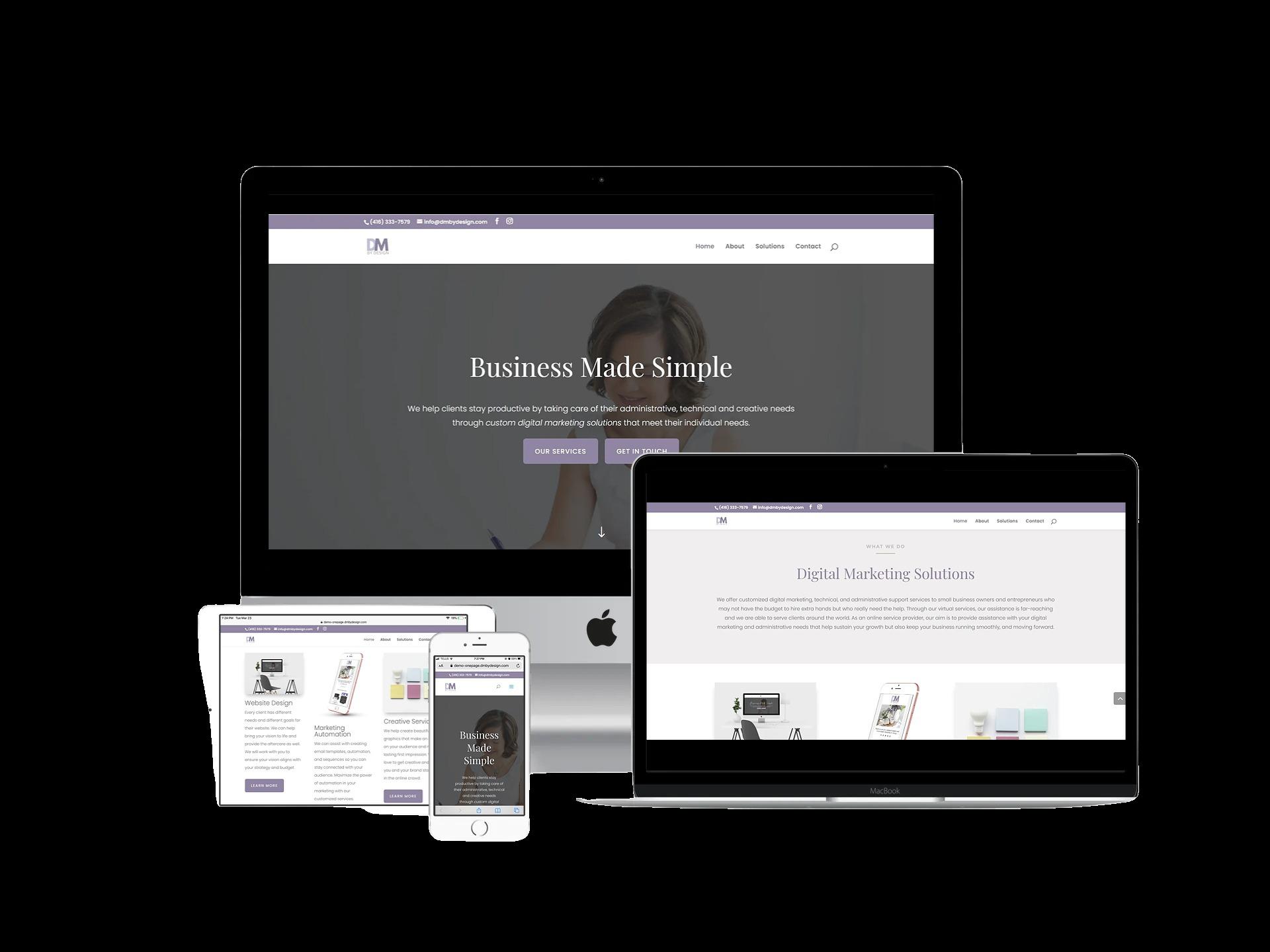 Digital Marketing by Design responsive website